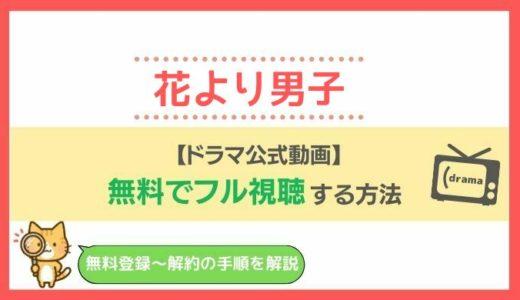 【公式見逃し動画】花より男子(ドラマ)を1話から最終回まで無料視聴!pandora・Dailymotionでの配信状況も!