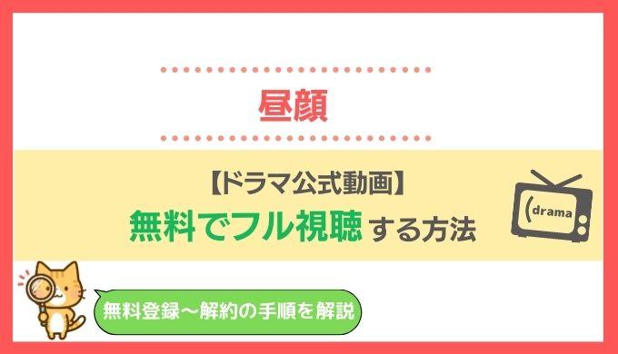 昼顔動画ドラマ