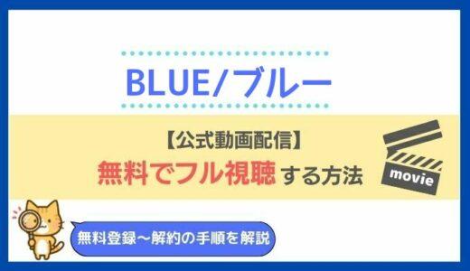 BLUE/ブルー(映画)の動画を配信で無料フル視聴する方法!松山ケンイチ×木村文乃出演作の2021年最新配信情報も